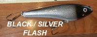 "Phoenix Glide Bait 7.5""  with Leader Color Black Silver Flash"