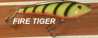 "Phoenix Glide Bait 7.5"" with Leader Color Fire Tiger"