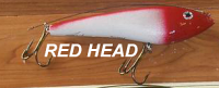 "Phoenix Glide Bait 7.5"" with Leader Color Red Head"