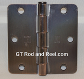 "Hager RC1279 Hinge 1 Each 3-1/2"" x 3-1/2"" 1/4"" Radius Hinges  US10b Oil Rubbed Bronze"