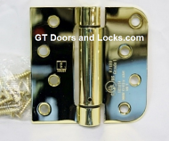 "Hager Hinges 1754 5/8"" Radius x Square Corner US3  Polished Brass 4"" x 4"" 426r r7189 Self Closing Hinge"