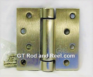 "Hager Hinges 1750 Square Corner 4"" x 4"" 426r r7189 Self Closing Hinge us4 Satin Brass"