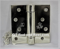 "Hager Hinges 1750 Square Corner 4"" x 4"" 426r r7189 Self Closing Hinge us26 Polished Chrome"