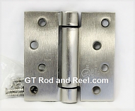"Hager Hinges 1750 Square Corner 4"" x 4"" 426r r7189 Self Closing Hinge us26d Satin Chrome"