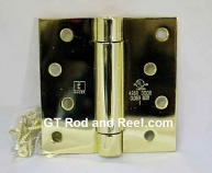 "Hager Hinges 1750 Square Corner US3 Polished Brass 4"" x 4"" 426r r7189 Self Closing Hinge"