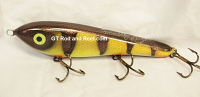 """Smuttly Dog Baits Lures 8"""" Drop Belly 8DB Musky Glide Bait  Color: Bronze Back Perch"""