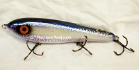 "Smuttly Dog Baits Lures 8"" Drop Belly 8DB Musky Glide Bait  Color: Violet Blue Cisco"