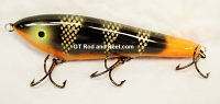"Smuttly Dog Baits Lures 8"" Drop Belly 8DB Musky Glide Bait  Color: Hot Tail Brown Perch"