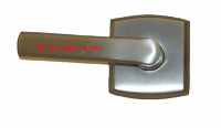 Soho Left Handed Lever Satin Nickel