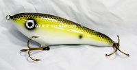 """Smuttly Dog Baits Lures 6"""" Drop Belly, Color; Yellow Drum"""