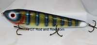 "Smuttly Dog Baits Lures 10"" Drop Belly 10DB Musky Glide Bait  Color: Neon Blue Olive Perch"
