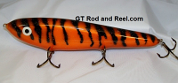 "Smuttly Dog Baits Lures 10"" Drop Belly 10DB Musky Glide Bait  Color: Orange Glitter Tiger"