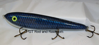 "Smuttly Dog Baits Lures 10"" Drop Belly 10DB Musky Glide Bait  Color: Electric Blue Carp"
