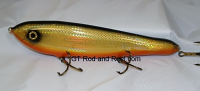"Smuttly Dog Baits Lures 10"" Drop Belly 10DB Musky Glide Bait  Color: Flashing Bronze Shiner"