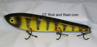 "Smuttly Dog Baits Lures 10"" Drop Belly 10DB Musky Glide Bait  Color: Red Gill Perch"