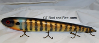 "Smuttly Dog Baits Lures 15"" Big ""H""  Musky Glide Bait  Color: Golden Blue Gill"