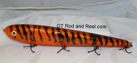 "Smuttly Dog Baits Lures 15"" Big ""H""  Musky Glide Bait  Color: Orange Glitter Tiger"
