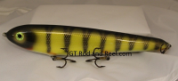 "Smuttly Dog Baits Lures 12"" Big ""N""  Musky Glide Bait  Color: Red Gill Perch"
