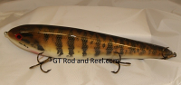 """Smuttly Dog Baits Lures 12"""" Big """"N""""  Musky Glide Bait  Color: Small Mouth Bass"""