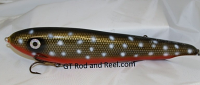 """Smuttly Dog Baits Lures 12"""" Big """"N""""  Musky Glide Bait  Color: Arctic Char"""