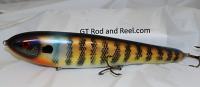 """Smuttly Dog Baits Lures 12"""" Big """"N""""  Musky Glide Bait  Color: Golden Blue Gill"""