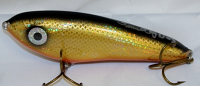 "Smuttly Dog Baits Lures 6"" Drop Belly, Color; Flashing Bronze Shiner"