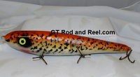"Smuttly Dog Baits Lures 12"" Big ""N""  Musky Glide Bait  Color: Orange Crappie"