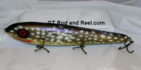 """Smuttly Dog Baits Lures 12"""" Big """"N""""  Musky Glide Bait  Color: Northern Pike"""