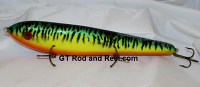 "Smuttly Dog Baits Lures 12"" Big ""N""  Musky Glide Bait  Color: Sparkling Glitter Fire Tiger"