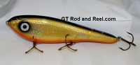"Smuttly Dog Baits Lures 8"" Drop Belly 8DB Musky Glide Bait  Color: Flashing Bronze Shiner"