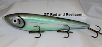 "Smuttly Dog Baits Lures 10"" Drop Belly 10DB Musky Glide Bait  Color: Turquoise Cisco"