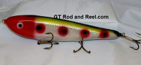 "Smuttly Dog Baits Lures 10"" Drop Belly 10DB Musky Glide Bait  Color: Red Headed Clown"