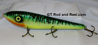 "Smuttly Dog Baits Lures 10"" Drop Belly 10DB Musky Glide Bait  Color: Glowing Green Tiger"
