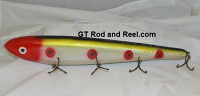 "Smuttly Dog Baits Lures 15"" Big ""H""  Musky Glide Bait  Color: Red Headed Clown"