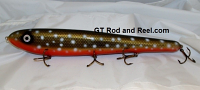 "Smuttly Dog Baits Lures 15"" Big ""H""  Musky Glide Bait  Color: Arctic Char"