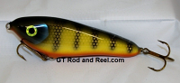 """Smuttly Dog Baits Lures 6"""" Drop Belly, Color; Bemidji Perch"""