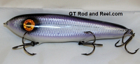 """Smuttly Dog Baits Lures 7"""" Minnow, Color; Violet Blue Cisco"""