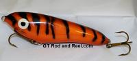 """Smuttly Dog Baits Lures Petite 6"""",  Color; Orange Glitter Tiger"""