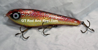 "Smuttly Dog Baits Lures 8"" Drop Belly 8DB Musky Glide Bait  Color: Bloody Mary"