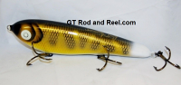 "Smuttly Dog Baits Lures 8"" Drop Belly 8DB Musky Glide Bait  Color: Walleye"