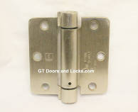 "Hager Hinges 1751 1/4"" Radius  3.5"" x 3.5"" r7189 426r Self Closing Hinge US26d Satin Chrome"