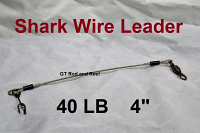 40 LB EZ Clip Shark Wire Leader 7x7 49 Strand Nylon Coated Wire-4""