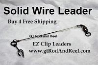 """75 LB EZ Clip Solid Wire Leader 6"""""""
