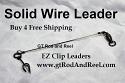 """100 LB EZ Clip Solid Wire Leader 12"""""""
