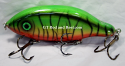 """Hughes River Musky Bait 7"""" Panfish Igniter Color; Blood Belly Tiger"""