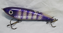 "Hughes River Musky 6"" Slim Shaker Bait Color; Purple Okoboji"