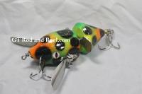 Mini Baby Spitzer 5 Fire Leopard, Musky Safari Tackle Company