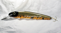 Pearson Plugs Lucky 13 Reef Buster, Strong Aluminum Lip Flaming Muskie