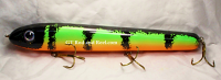 "Pearson Plug 12"" Wide Glide Color Flaming Perch"