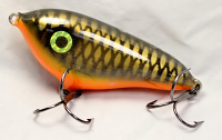 "Smuttly Dog Baits Lures 4"" Drop Belly, Color; Orange Belly Carp"